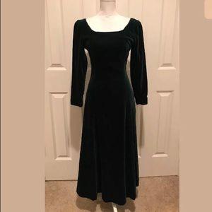 Laura Ashley velvet steampunk dress small